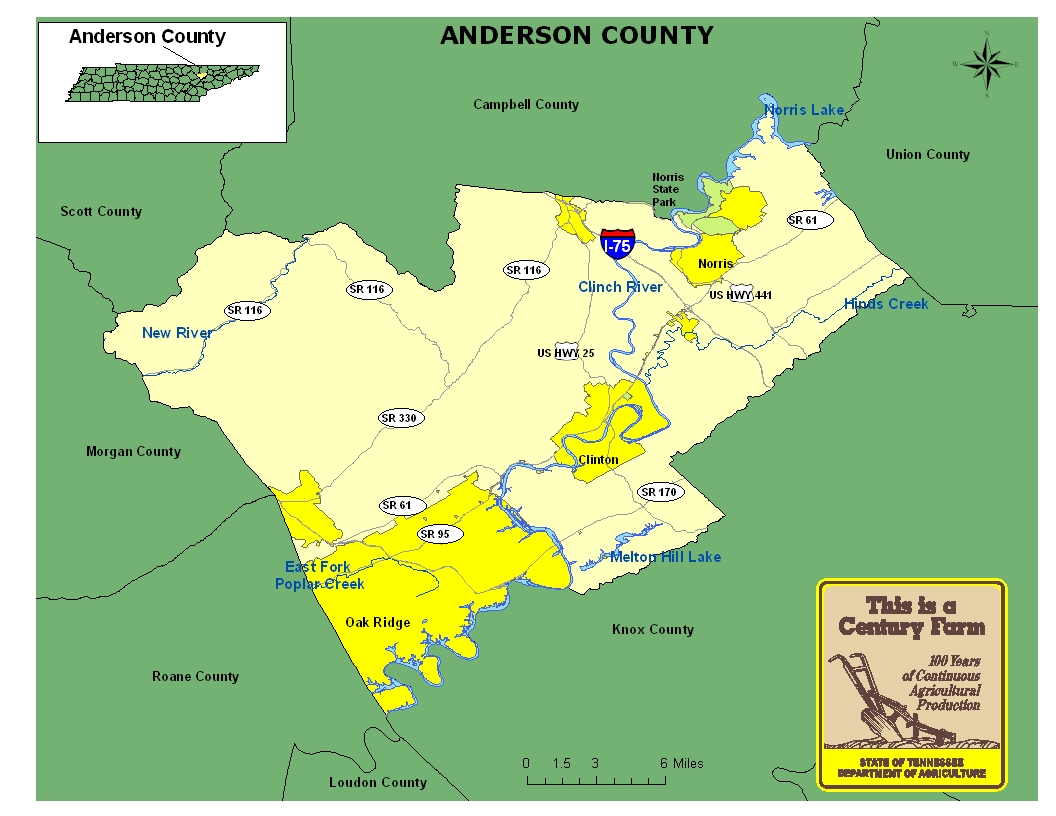 Anderson County Map