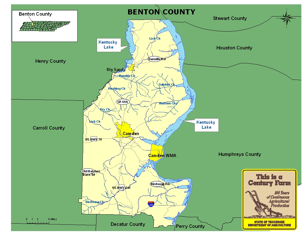 Benton County Map