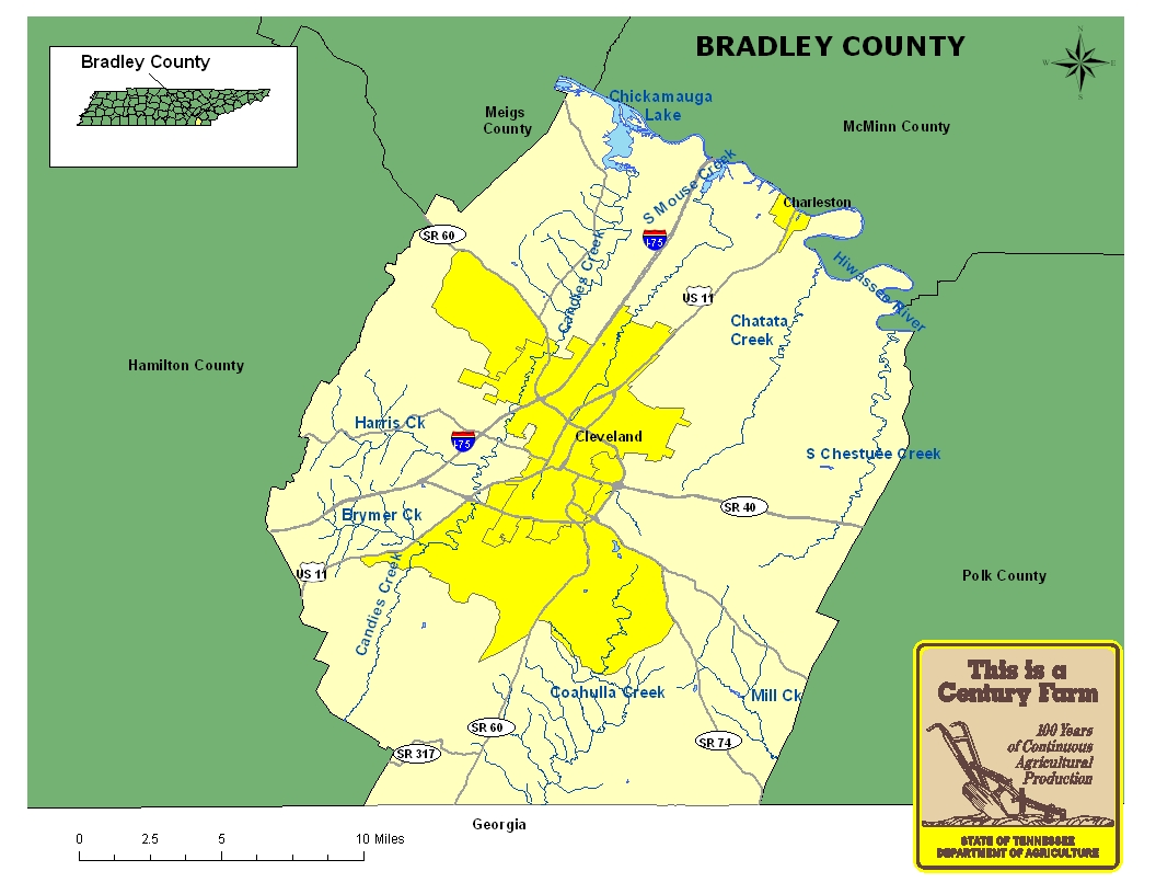 Bradley County Map