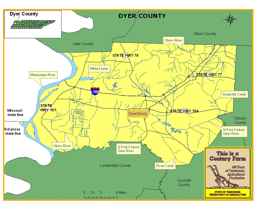 Dyer County Map