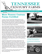 Tennessee Century Farms Newsletter Fall/Winter 2009