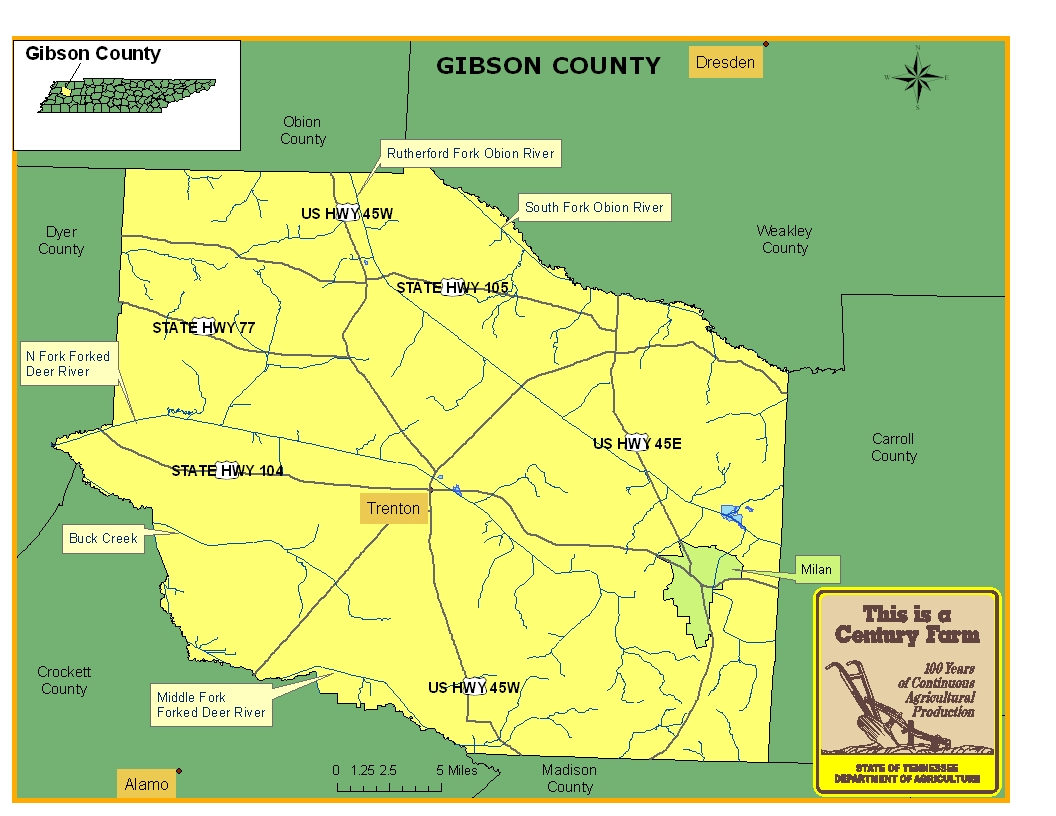 Gibson County Map