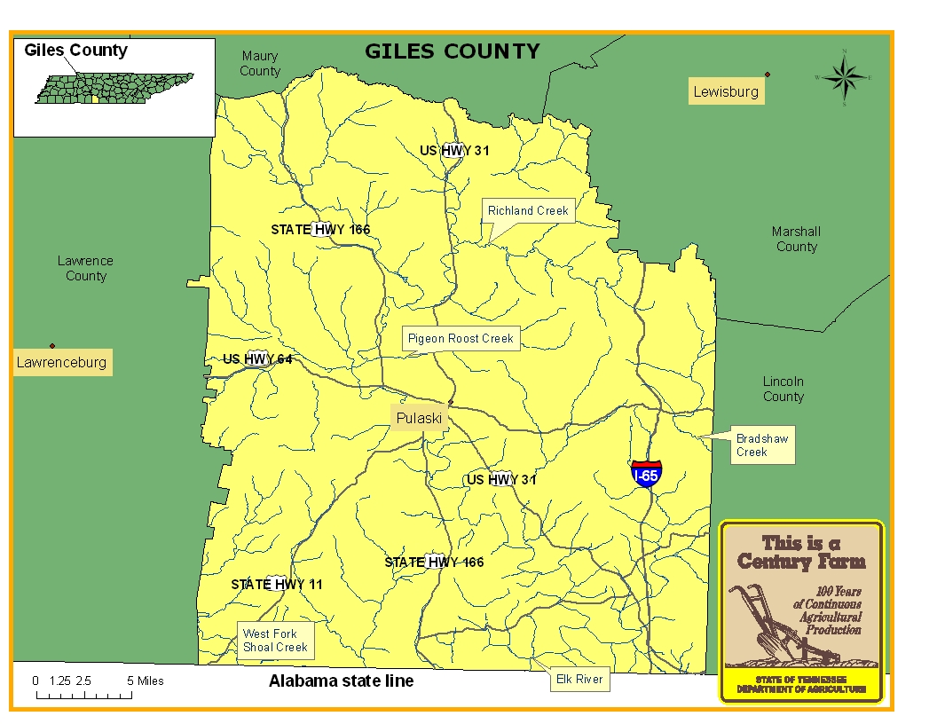 Giles County Map