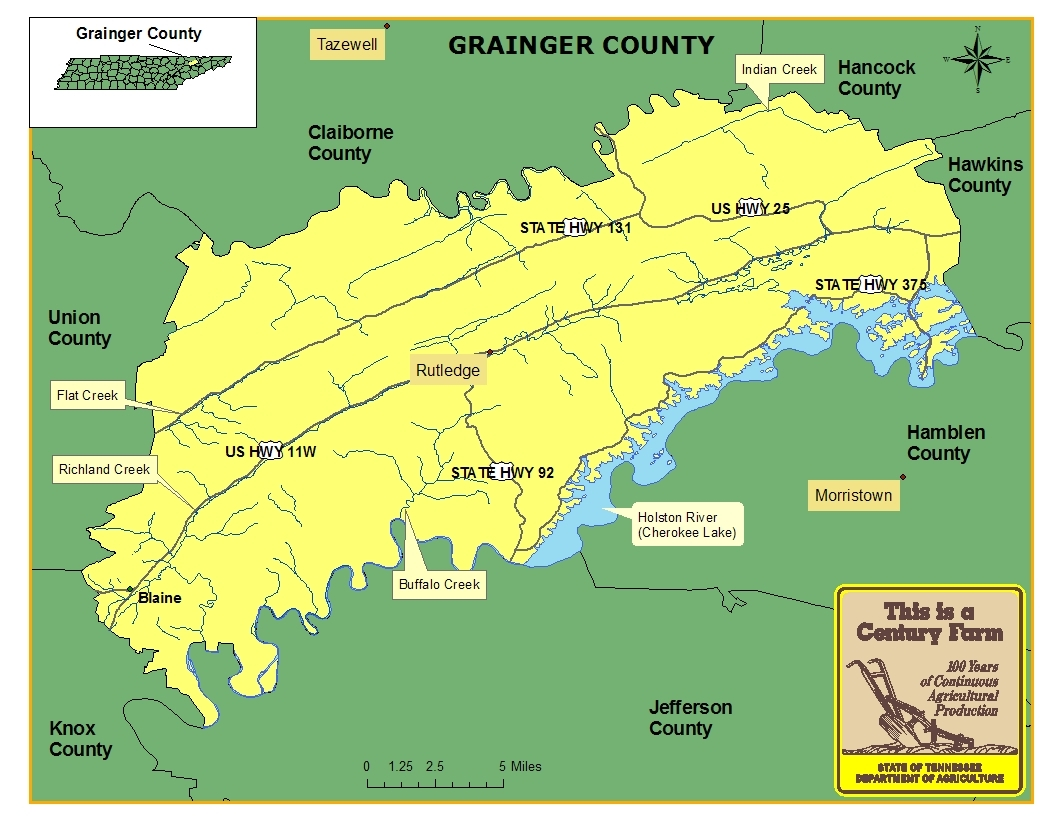 Grainger County Map