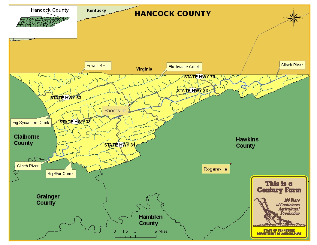 Hancock County Map