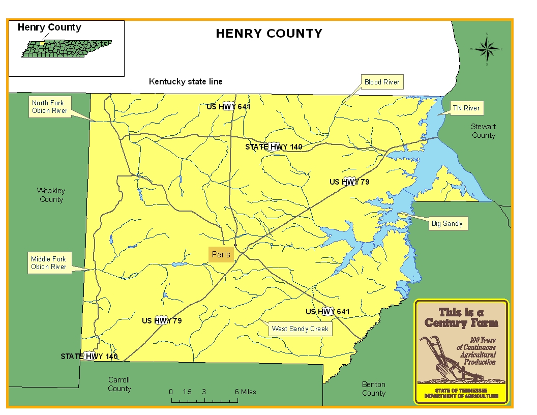 Henry County Map