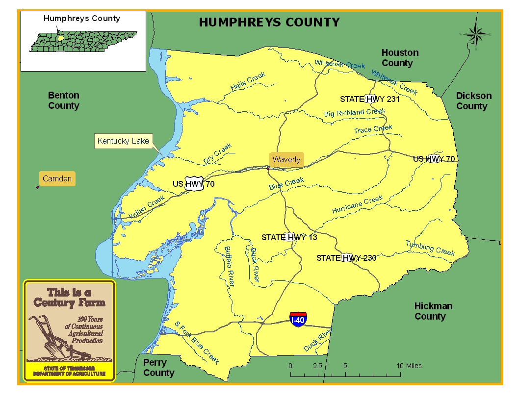 Humphreys County Map