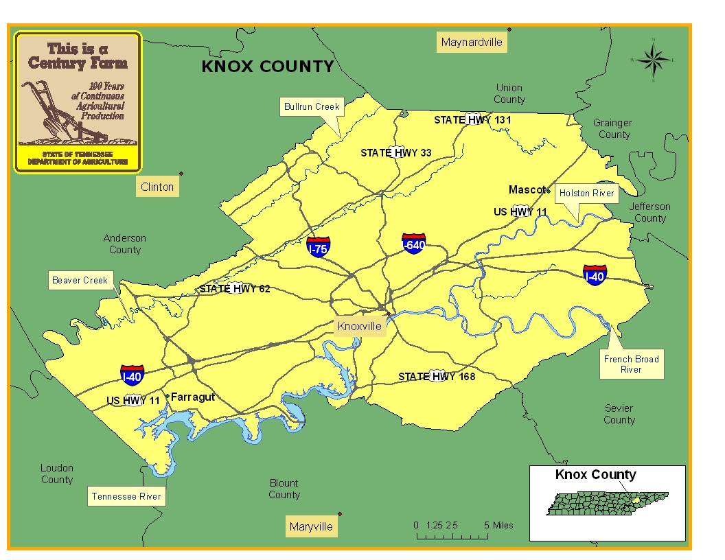Knox County Map