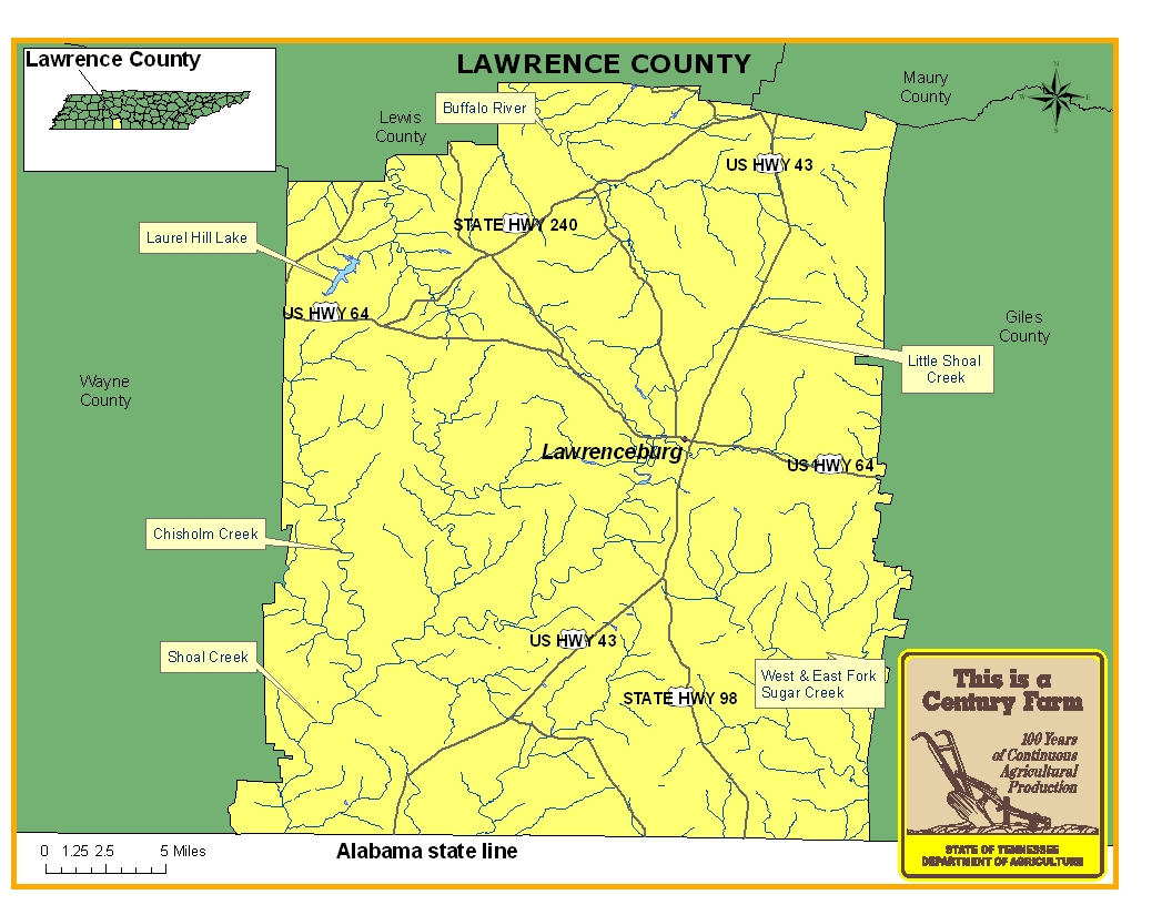 Lawrence County Map