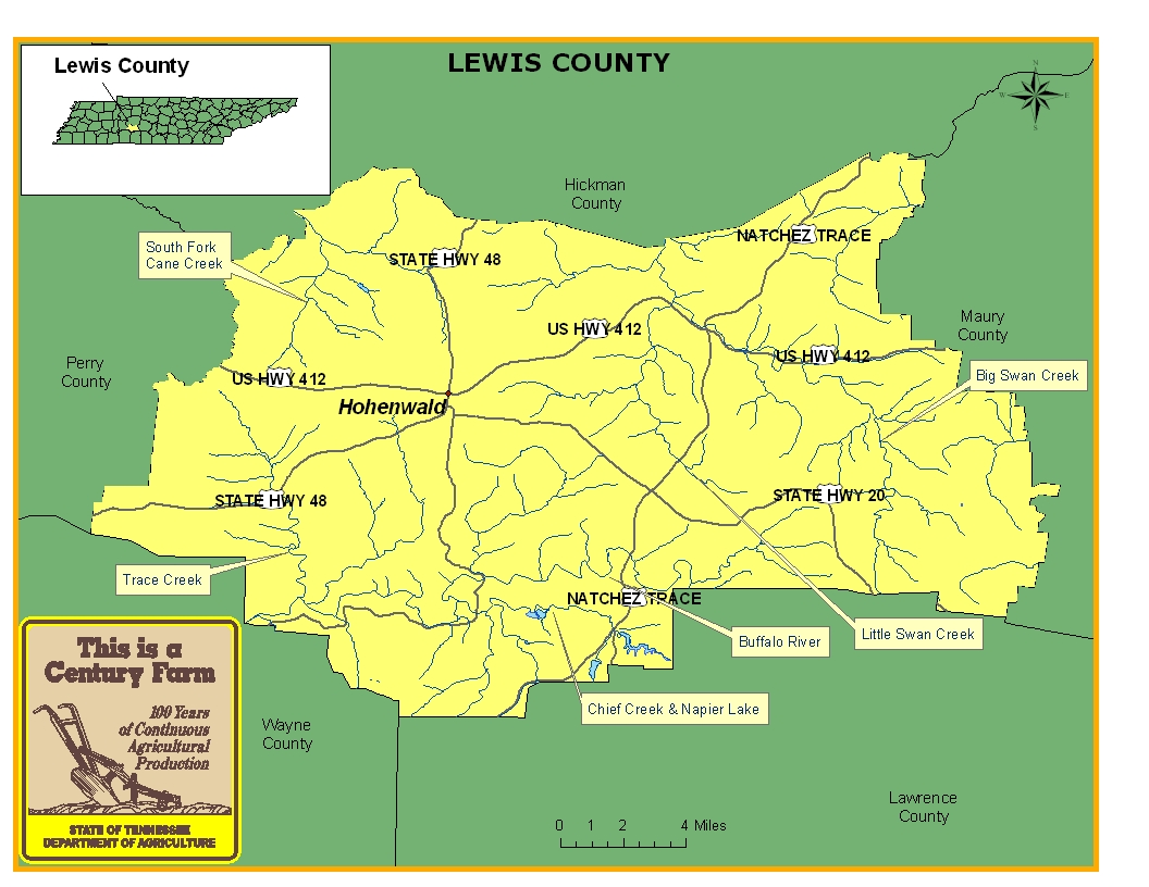 Lewis County Map