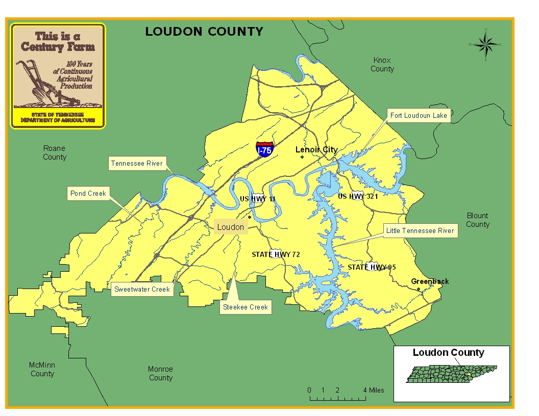 Loudon County Map