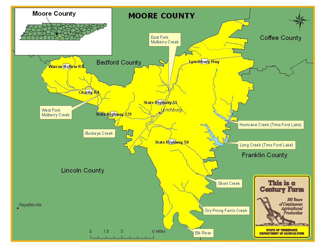 Moore County Map