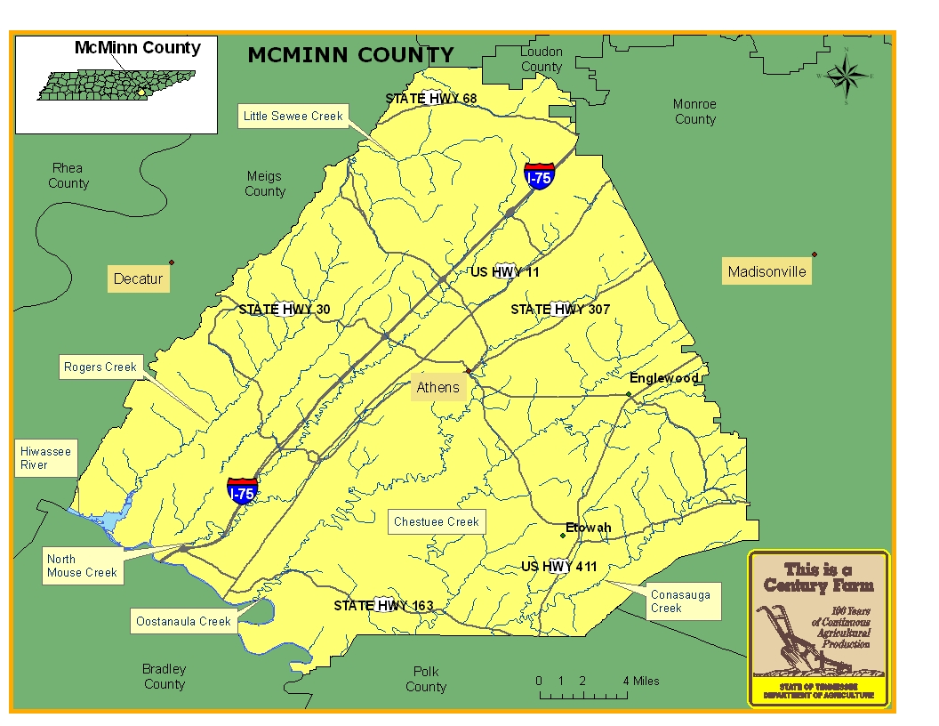 McMinn County Map