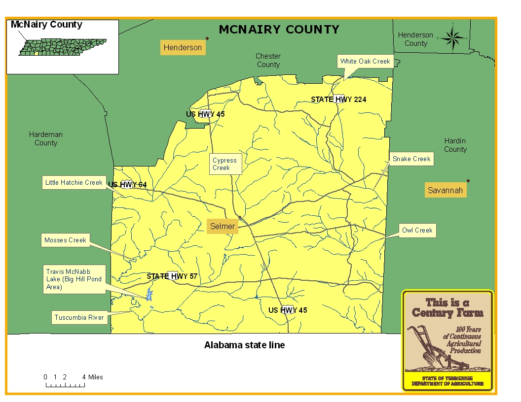 McNairy County Map