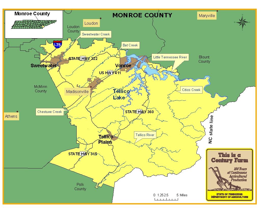 Monroe County Tennessee Century Farms