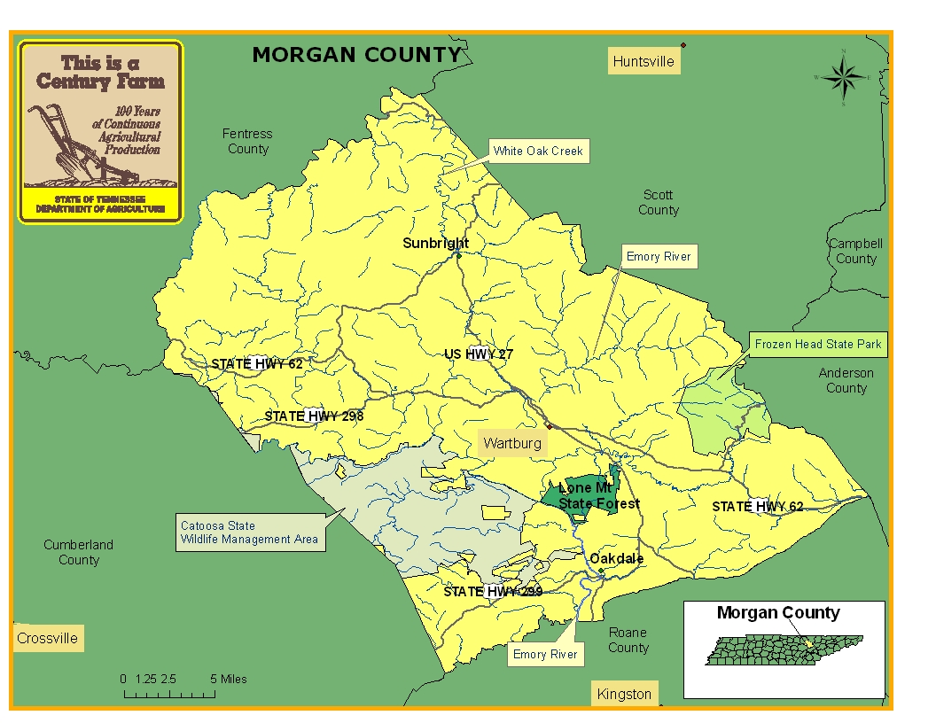 Morgan County Map