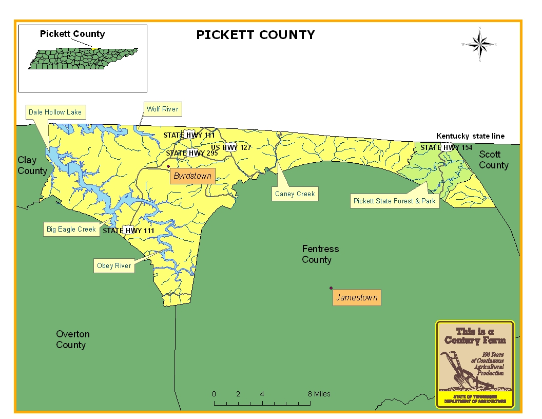 Pickett County Map