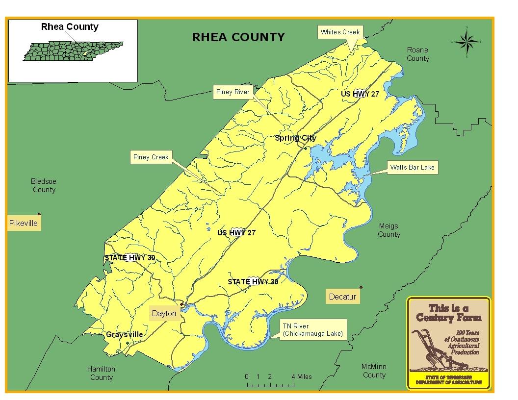 Rhea County Map