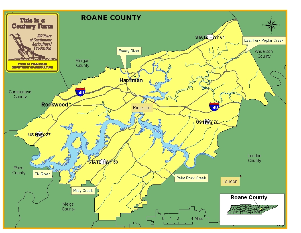 Roane County Map