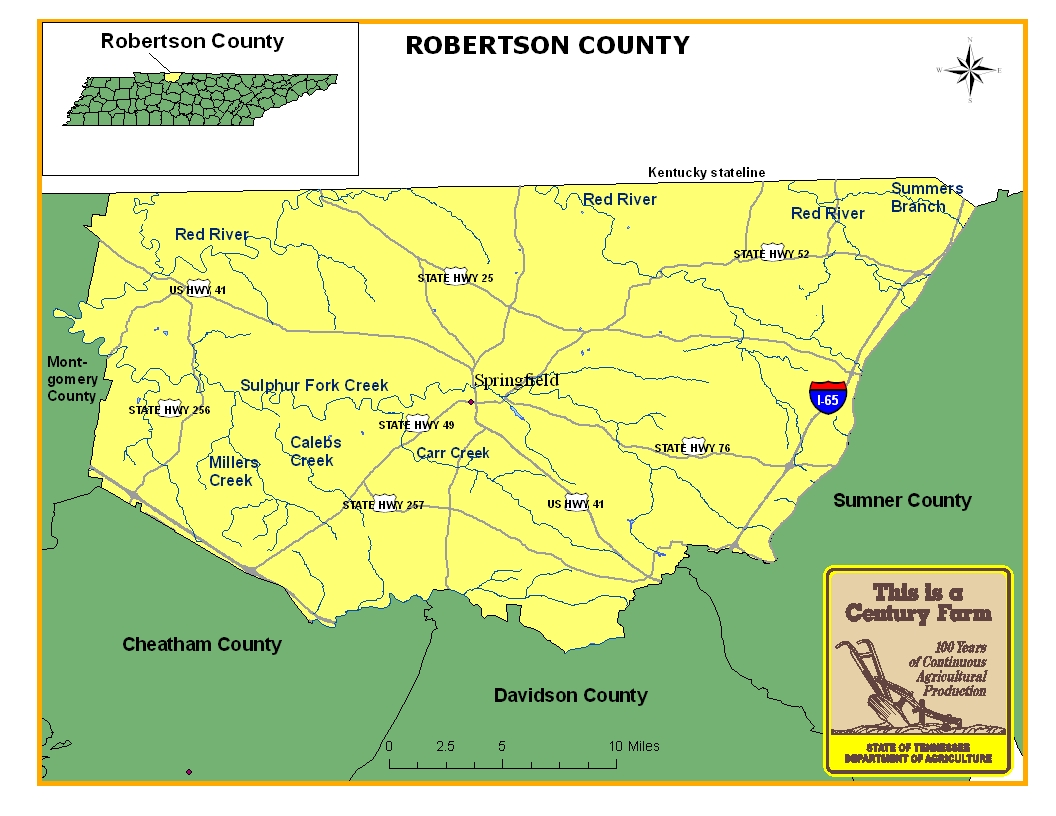 Robertson County Map