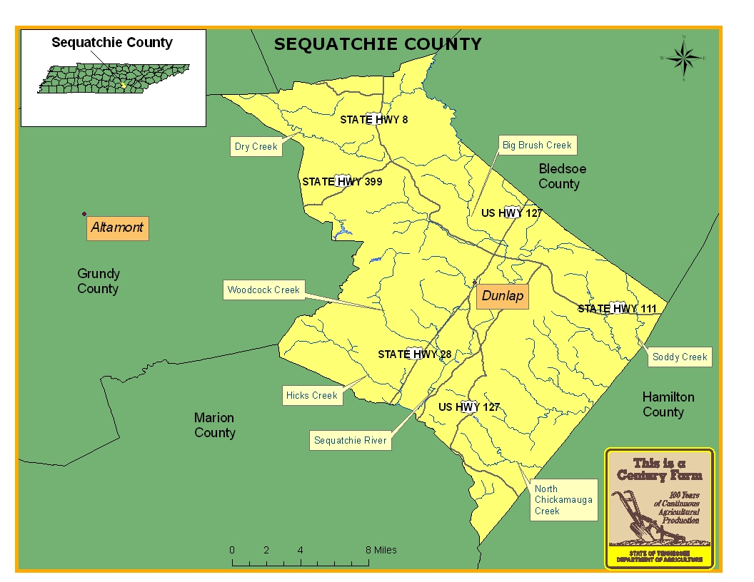 Sequatchie County Map