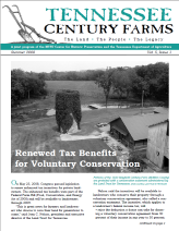 Tennesse Century Farms Newsletter Spring/Summer 2008