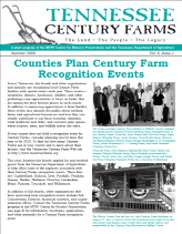 Tennessee Century Farms Newsletter Spring/Summer 2009