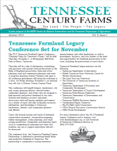 Tennessee Century Farms Newsletter Spring/Summer 2012