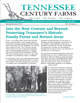 Tennessee Century Farms Newsletter Summer 2013