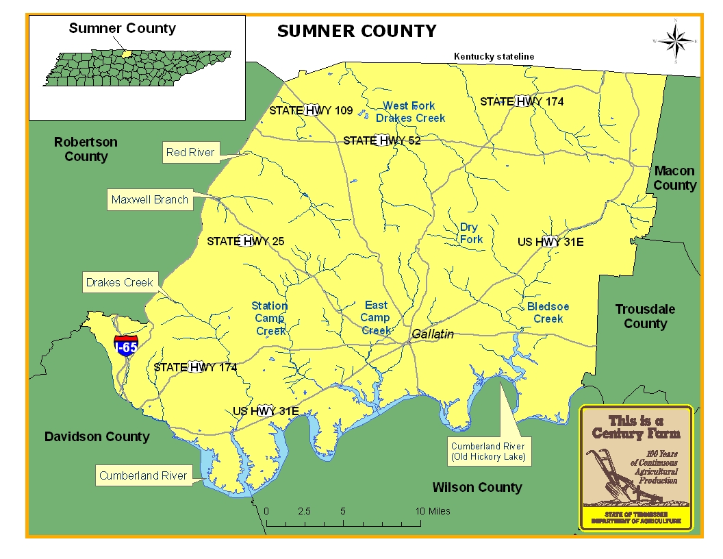 Sumner County Map