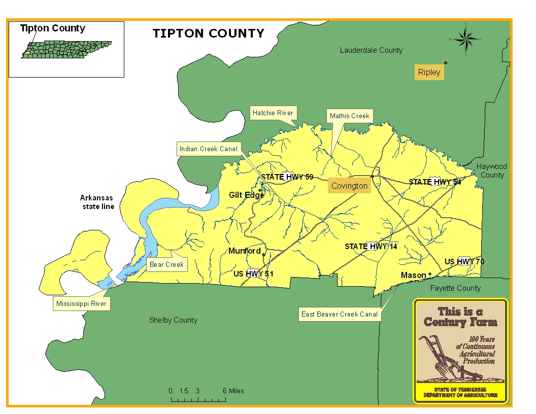 Tipton County Map