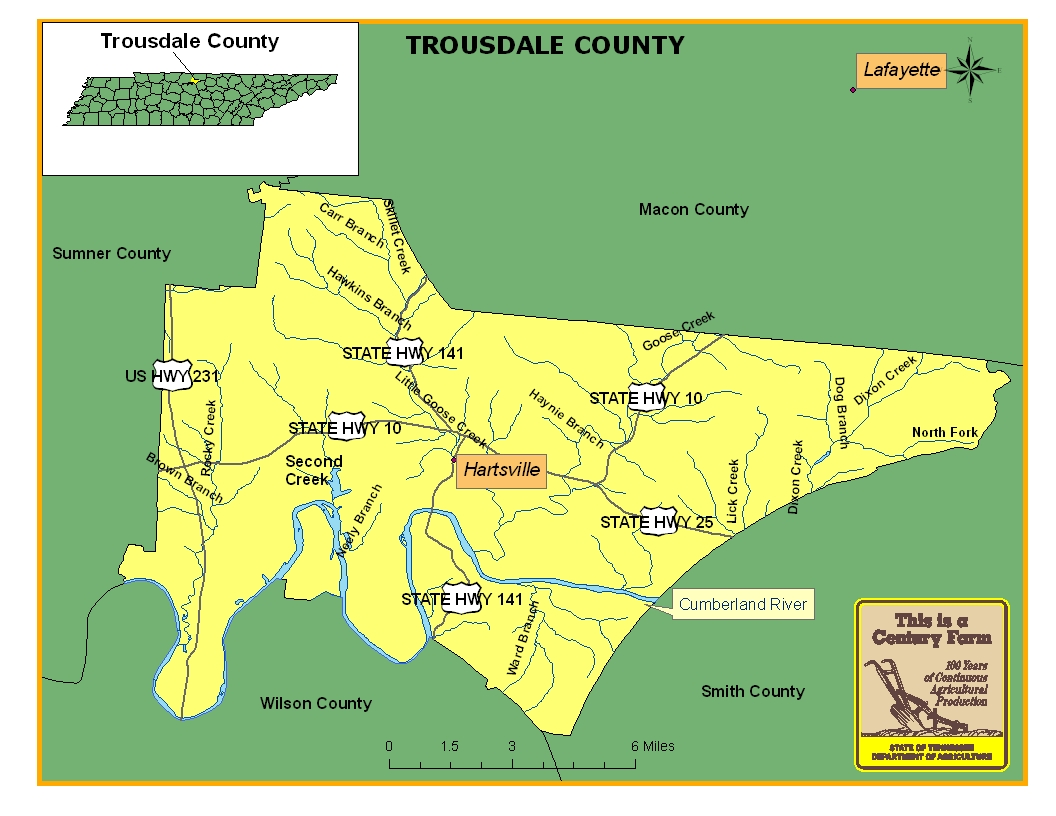 Trousdale County Map