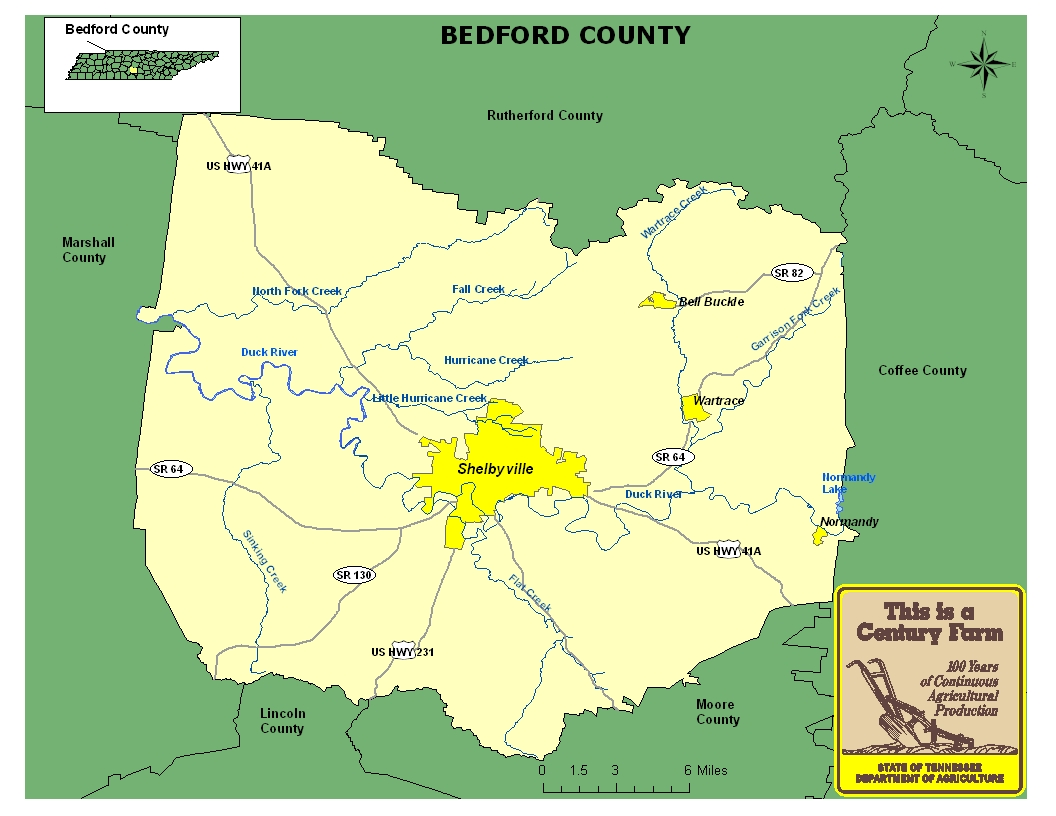 Bedford County Map