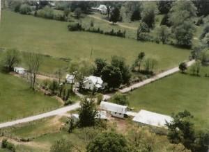 Aerial view of Elrie Brinkley Farm