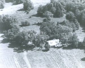 Rowesville Valley Farm, aerial view of 1894 house