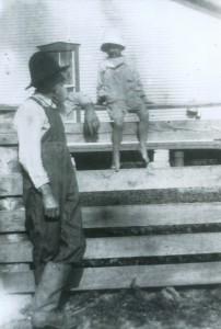 Rowesville Valley Farm founder Mitchell Bond with grandchild