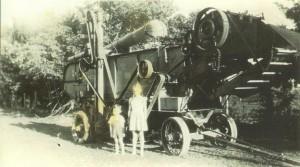 Wright Farm threshing machine