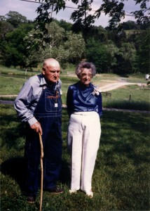 Willow Wood Farm fifth owners Willie Alfred 'W.A' and Mattie Cortner in 1987