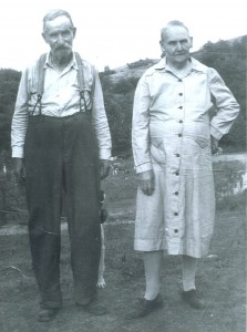 Willow Wood Farm third owners, Will Lucy and Kate Cortner in the early 1940s