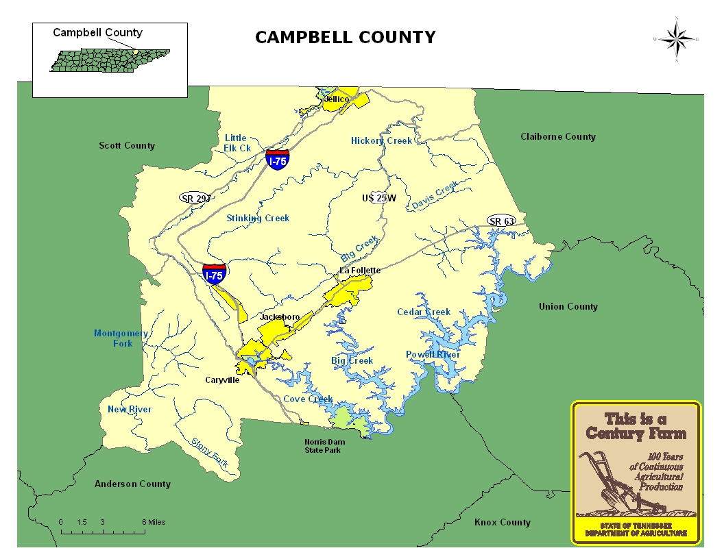 Campbell County Map
