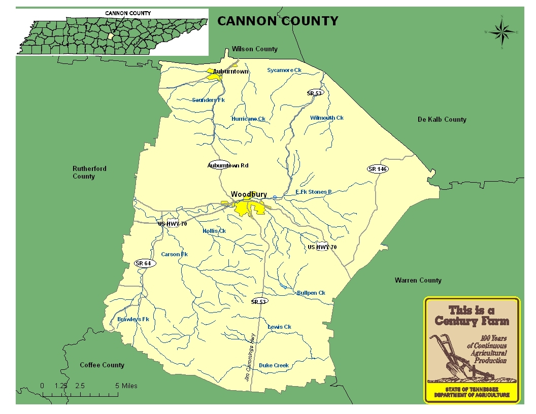 Cannon County Map