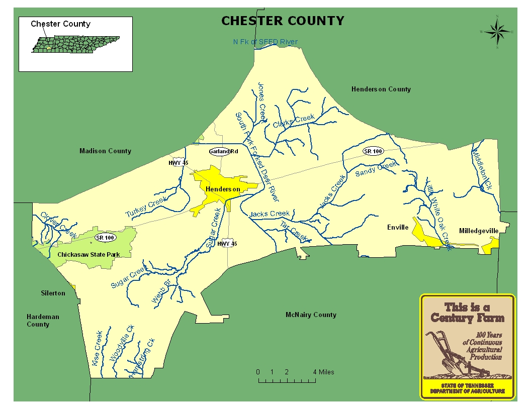 Chester County Map