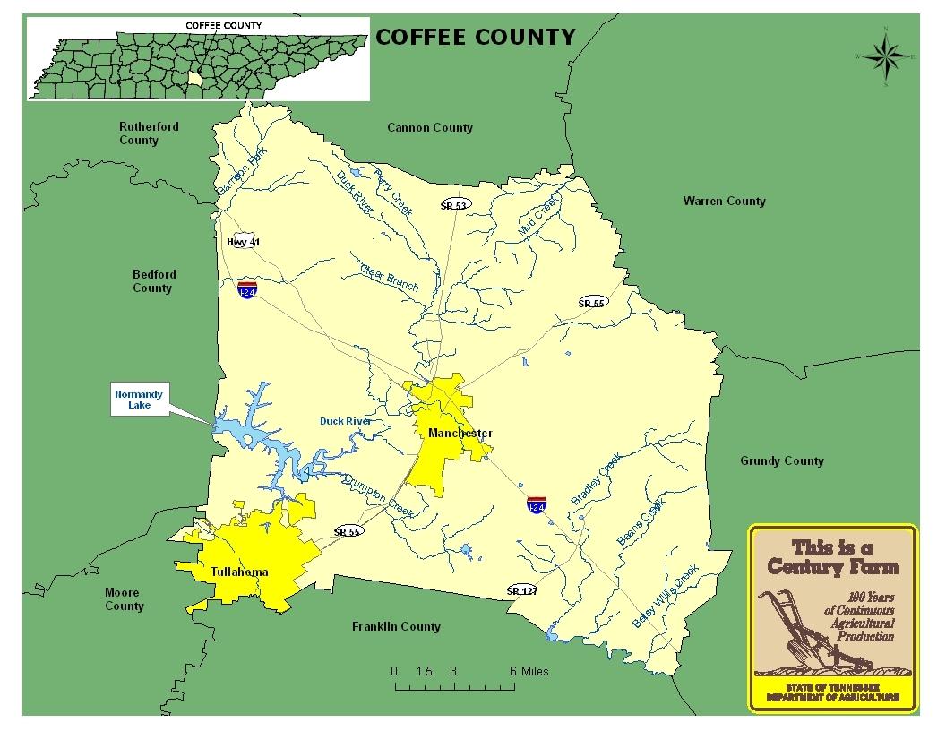 Coffee County Map