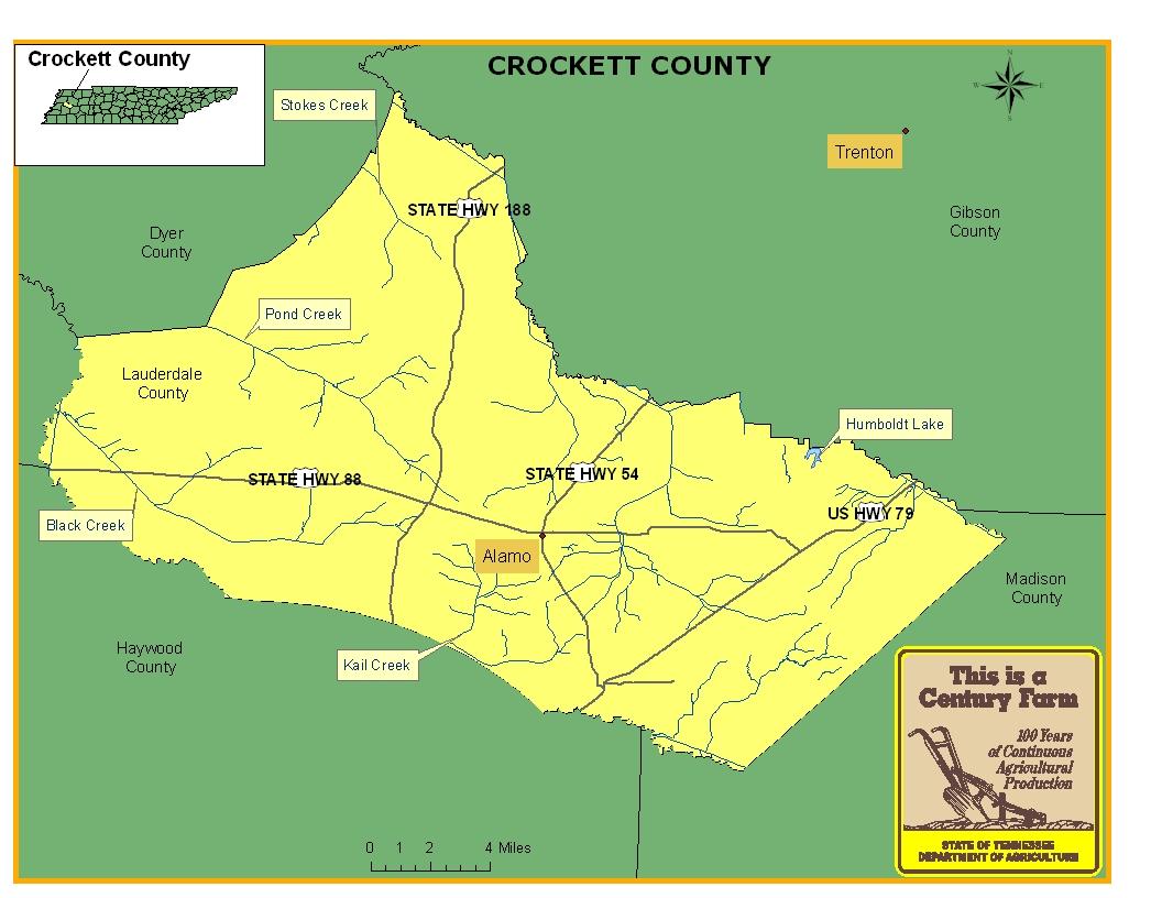 Crockett County Map
