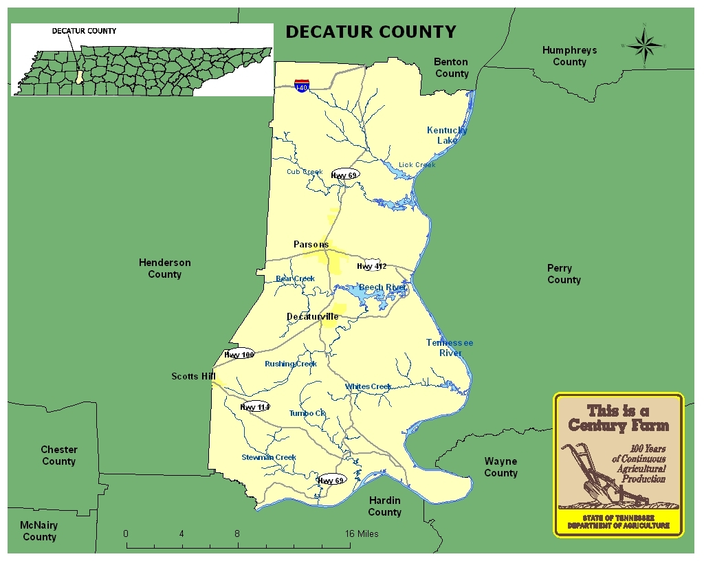 Decatur County Map