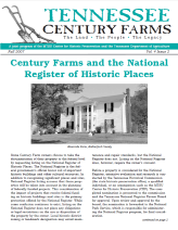 Tennessee Century Farms Newsletter Fall/Winter 2007