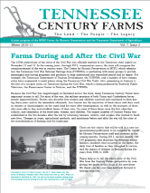 Tennessee Century Farms Newsletter Fall/Winter 2010