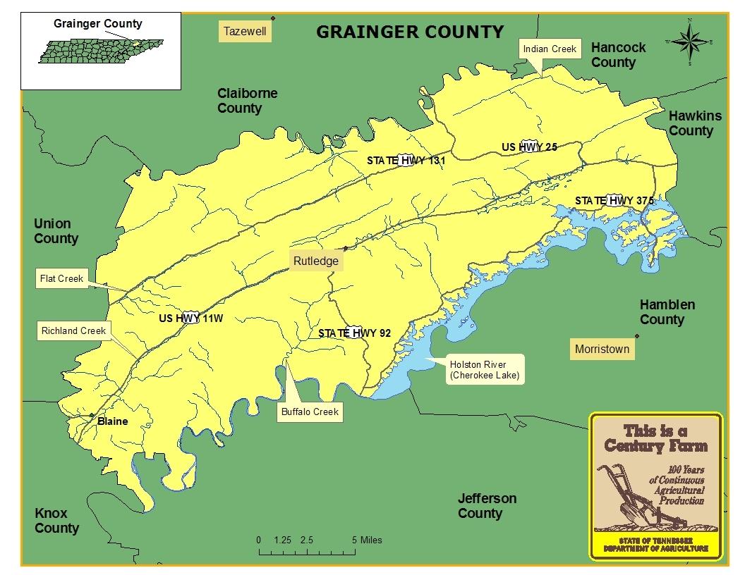 Grainger County Map
