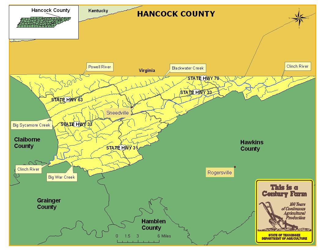 Hancock County Map