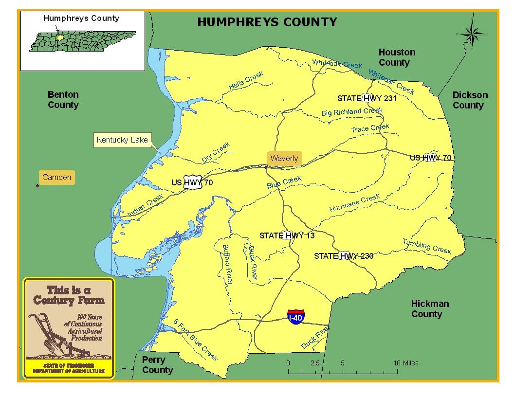 Humphreys County Map